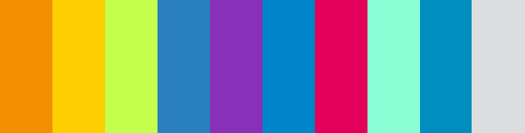 Paletas de colores crom ticos adesign for Gama de colores vivos