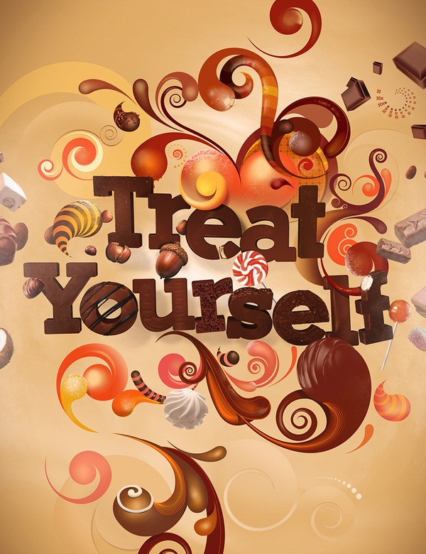 treat_yourself_posters_tipografia